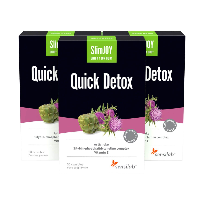 Quick Detox | 1+2 GRATIS | Entschlacken und Abnehmen - mit Mariendistel-Extrakt | 30 Kapseln | SlimJOY.