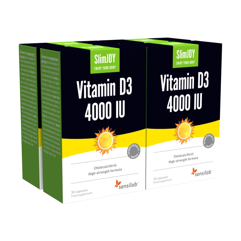 SlimJOY | Vitamin D3 - 4000 IU, najmočnejši na trgu | 1+3 GRATIS | 8-mesečna zaloga.