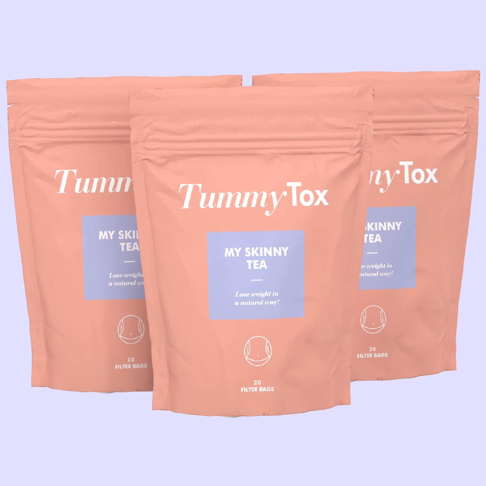 Skinny Me Tea | 1+2 GRATIS | Tisana dimagrante | Aiuta a bruciare i grassi | 3x 20 bustine per una cura di 2 mesi | TummyTox.