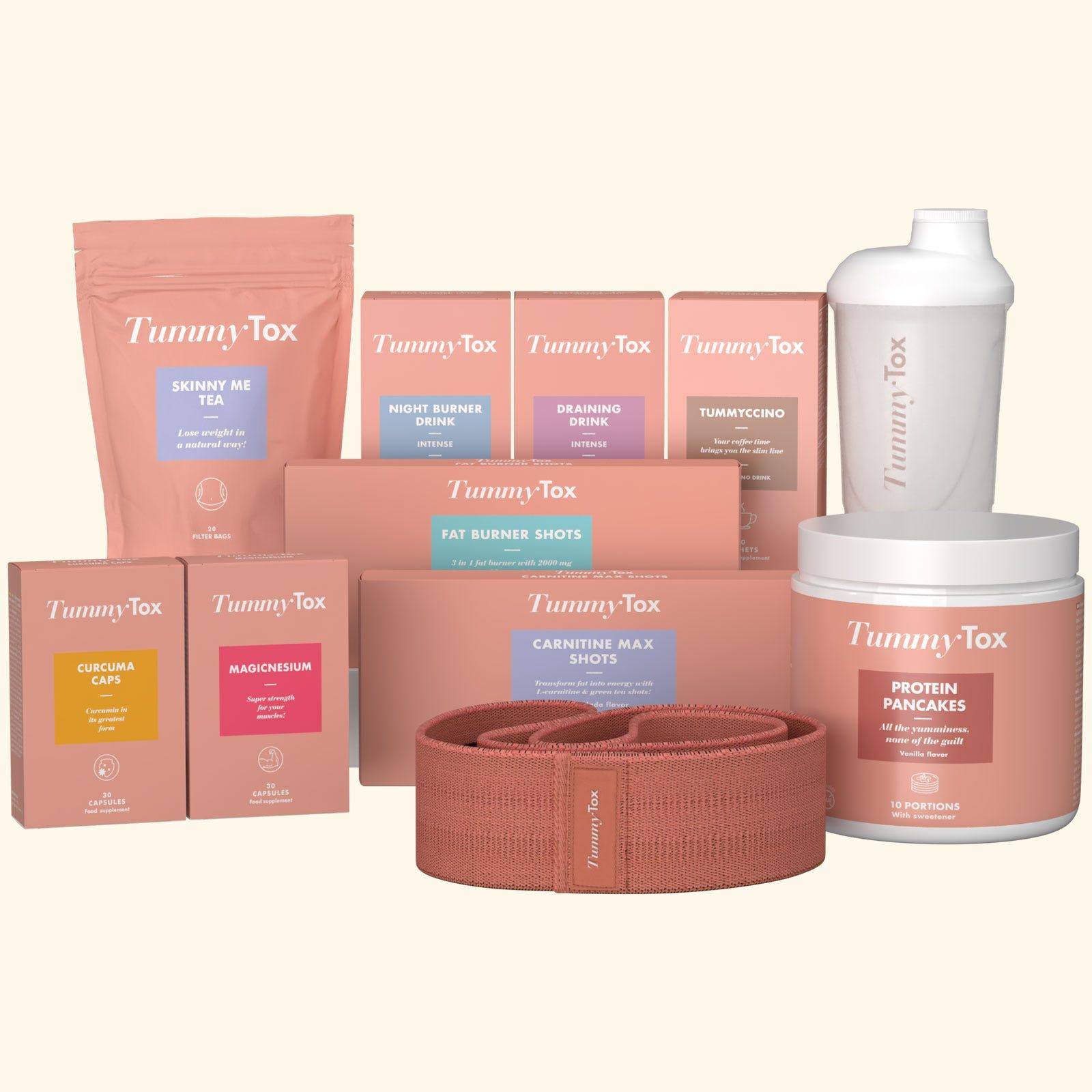 Straff und schlank Paket + 2 GESCHENKE - Das beste vollständige Abnehm-Programm für einen schlanken und straffen Körper TummyTox.