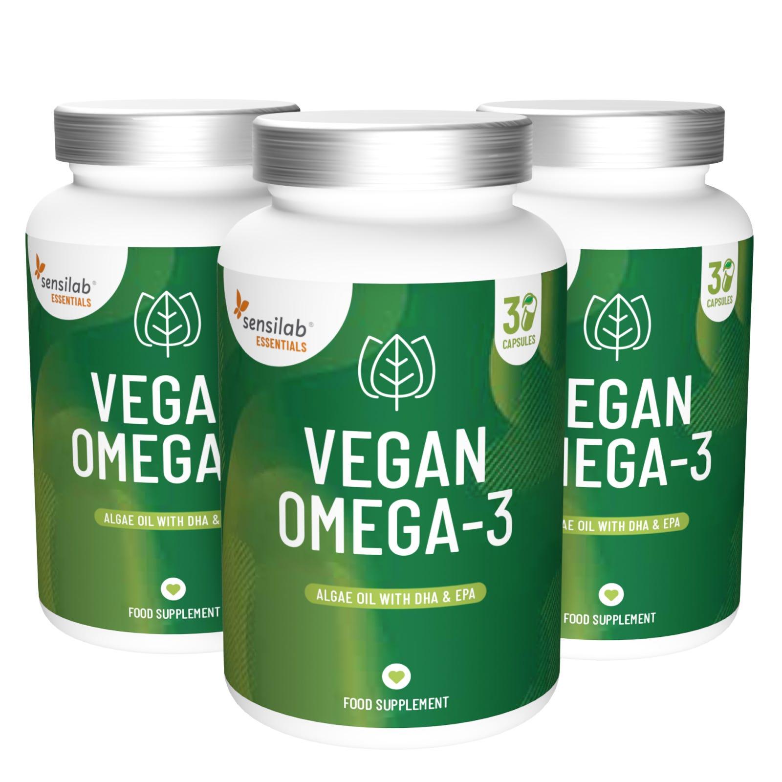 Essentials Vegan Omega-3 Dreierpackung.