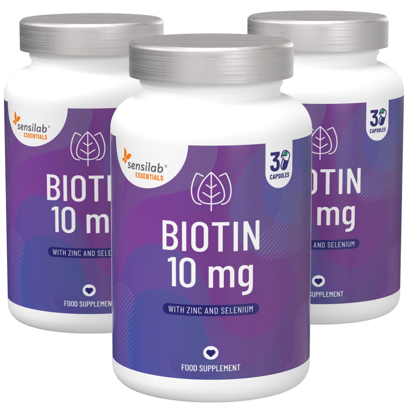 Biotina para Cabello, Piel y Uñas 1+2 GRATIS.