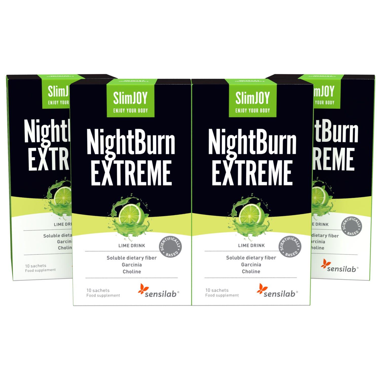 NightBurn EXTREME   Topilec maščob, ki topi maščobo med spanjem   Delovanje 4-v-1   Brez kofeina   Program za 40 dni   1+3 GRATIS    SlimJOY.