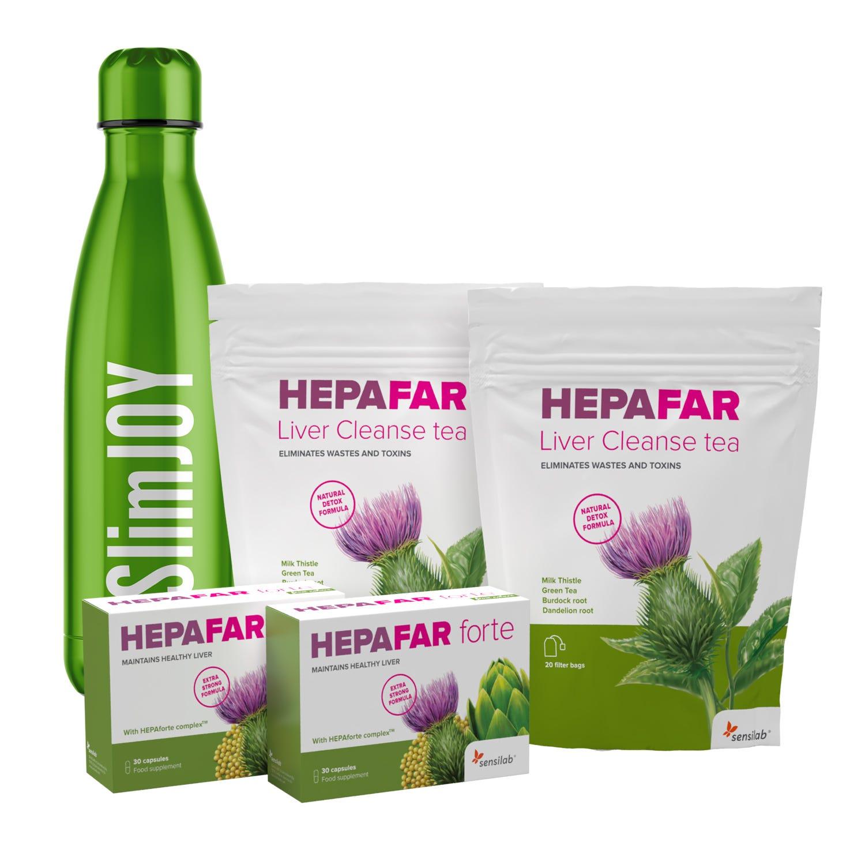 Pacchetto Hepafar per disintossicare il fegato + bottiglia in regalo.